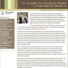 Web Jornadas de Innovación Docente