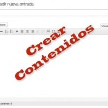 Crear contenidos en WordPress