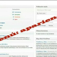 Wordpress: Menú apariencia