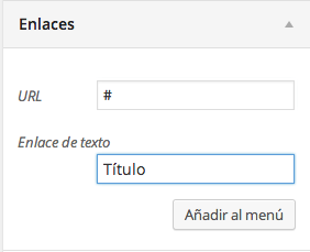 menú enlace en wordpress